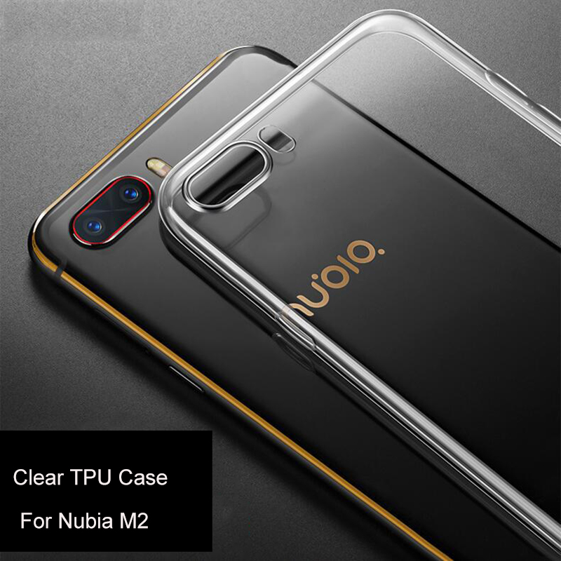 soft flexible case for zte nubia m2 cell cover, tpu clear case for nubia m2 z17 mini