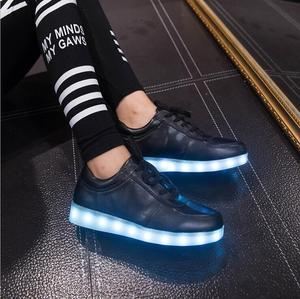 7 colors changing cheap casual shoes,flashing kids led lighting disco dancing cheap led strip light shoes