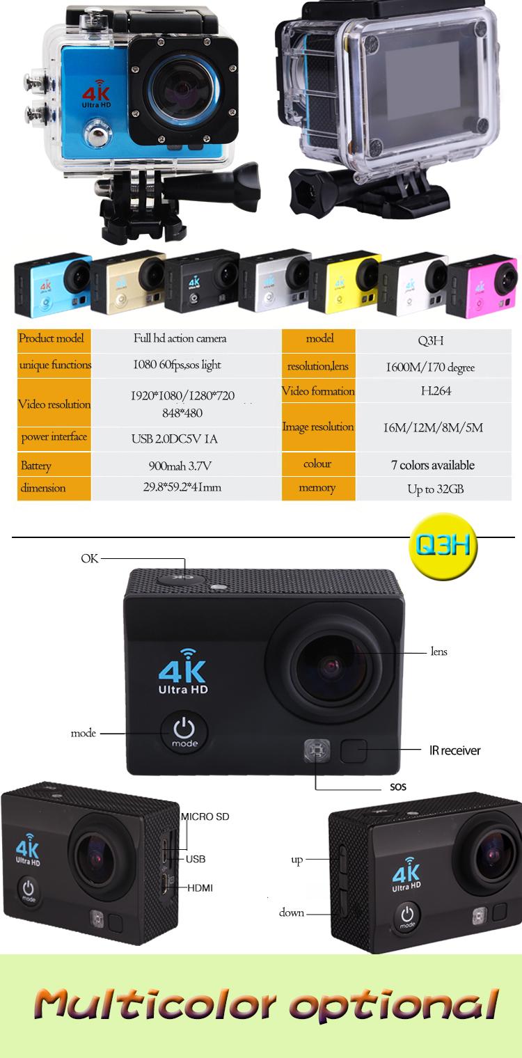 Europe Market 4k Sport Cameras Wifi 1080p 60fps Action ...