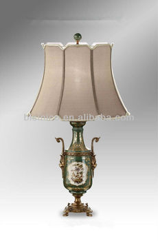 Hand painted chinese porcelain table lamp with shadeimitated prize hand painted chinese porcelain table lamp with shadeimitated prize cup shape table lighting mozeypictures Gallery