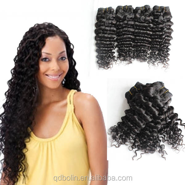 Human Hair Extensions Virgin Peruvian Deep Wave Crochet Braid Hair