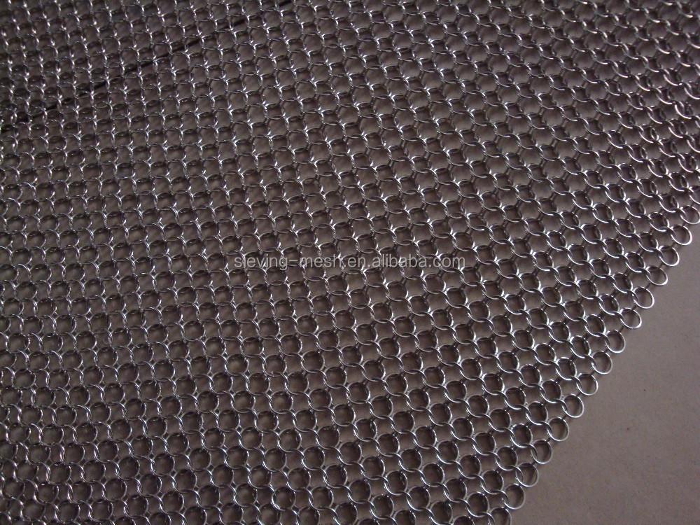 h tel d coration cotte de mailles en acier inoxydable. Black Bedroom Furniture Sets. Home Design Ideas