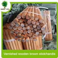 wholesale garden tools Varnished two times paint broom stick