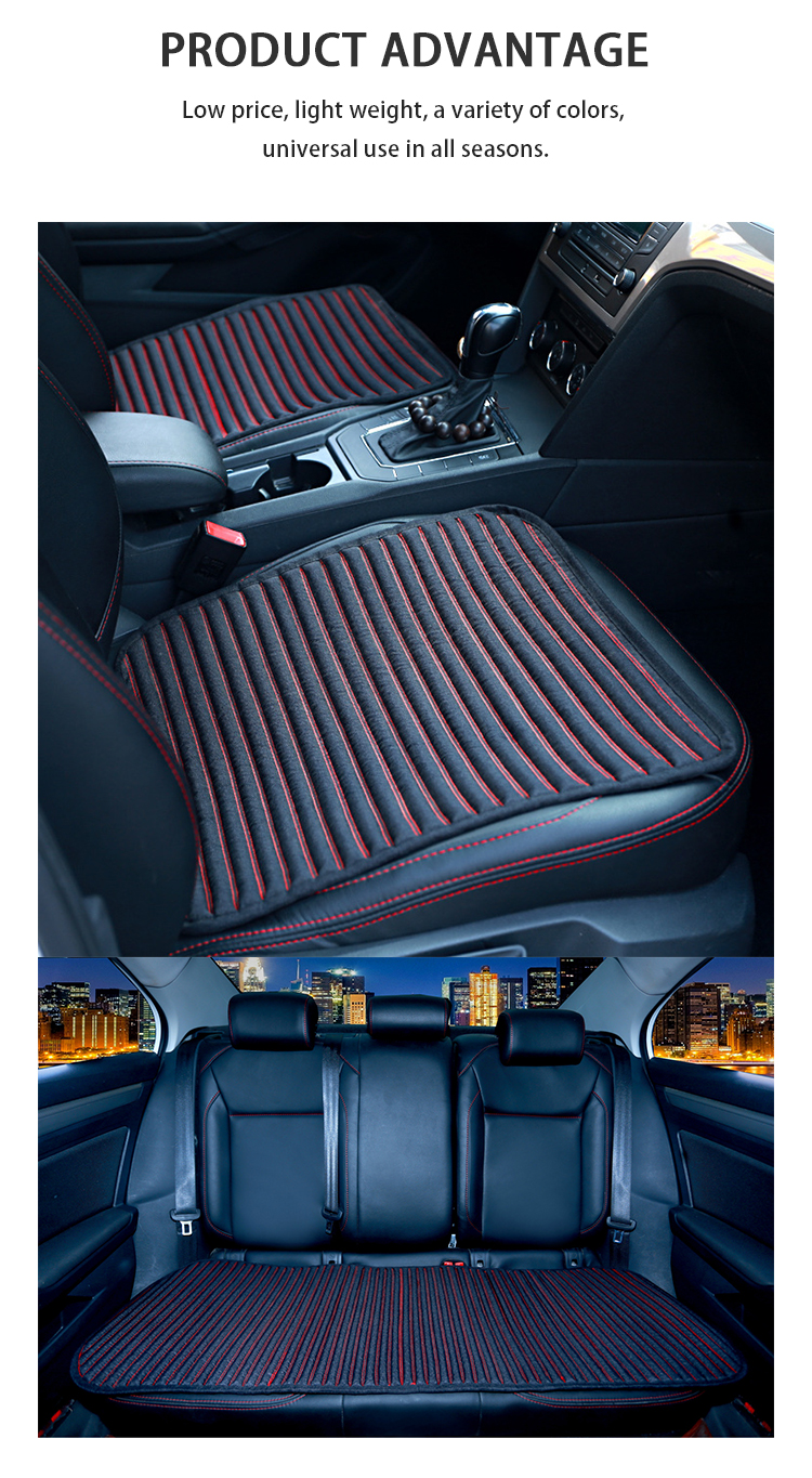 ZD-B-098 Flax foreign trade car seat cover artificial four seasons universal cushion 5 seat car universal high quality mat