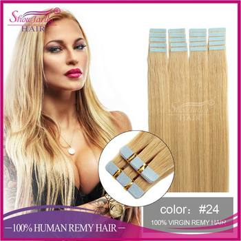 100 unprocessed european remy invisible double sided yaki tape hair extension skin weft cheap human hair weft