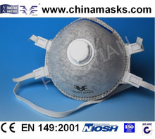 Industral active carbon desechables mascarilla mascarilla polvo