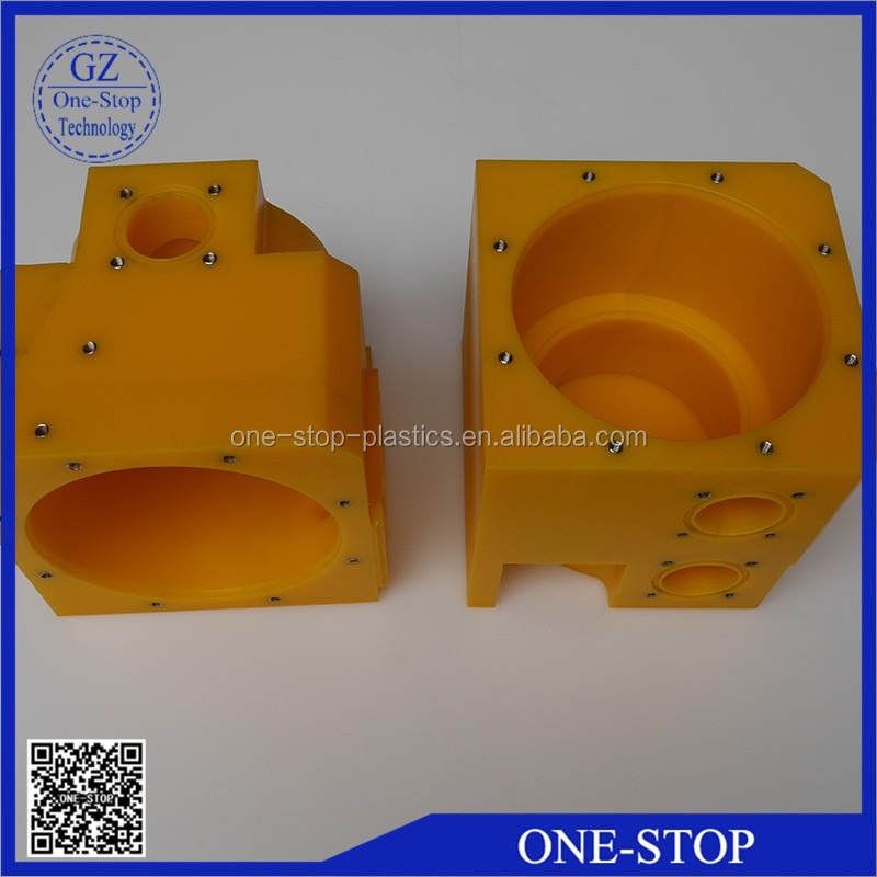yellow plastic uhmwpe parts UPE part
