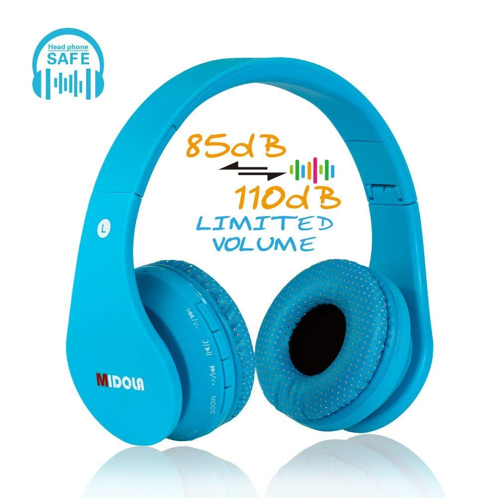 b782f484419 Get Quotations · MIDOLA Kids Bluetooth Wireless Headphones Wired On Ear Headset  Foldable Earphone with AUX 3.5mm Jack