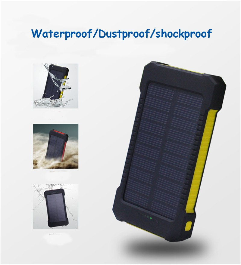 Dropshipping Wristband 10000mah Power Bank With Sos Rohs Solar