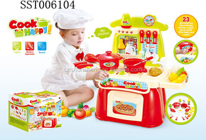 B/O FITMENT SET TOYS W/MUSIC LIGHT ,Suitcase Kitchen Play Set ABS creative kids toys
