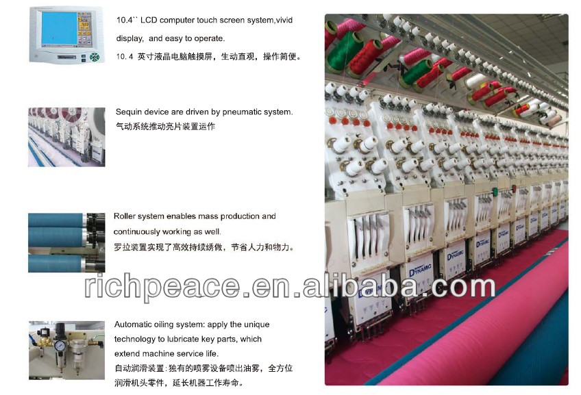 Computerized Quilting Embroidery For Mattress Bed-cover and quilting Making Machine