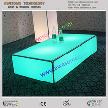 remote controlled color changing led center table for bar and clubs