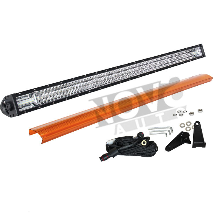 Motorcycle led light bar powerful headlight 3 row pin header