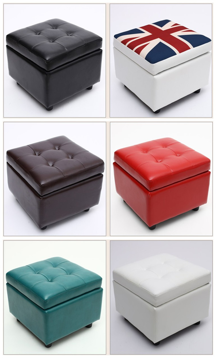 Square White Leather Cube Dice Stool Storage Ottoman Chair Buy