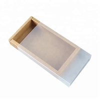 WLT1-71 Semi transparent plastic sleeve paper tray drawer box sliding open custom essential oil box