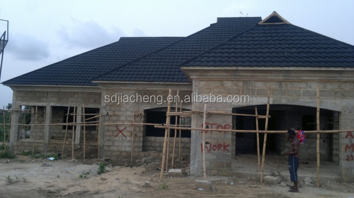 Zambia Harvey Roofing Tile Colorful Stone Coated Steel