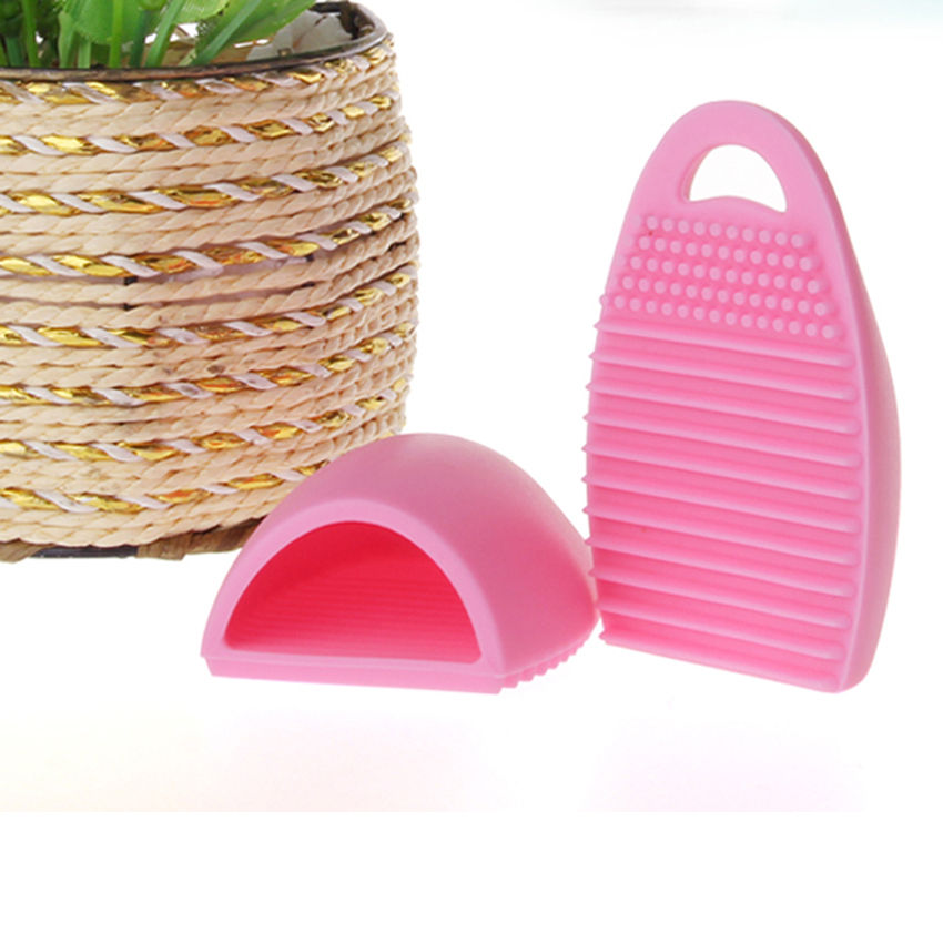 New hot corn-shape makeup brush cleaners silicon gel hang makeup brush wash eggs