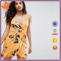 2017 New Fashion Trendy Women Summer Sleeveless Floral Printed Dress