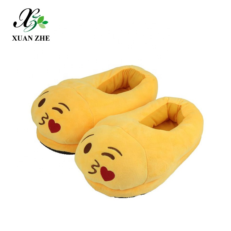 Decor New Arrival Embroidery Plush Emoji <strong>Slipper</strong>
