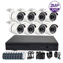 8CH 1080P AHD CCTV DVR Security Solution Kit Wired Home Cctv System with 8 pcs Bullet Camera