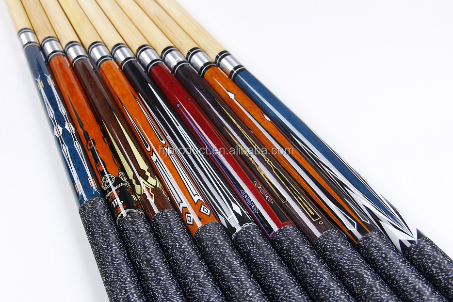 blue design 12 pc center jointed wooden pool cues standard length billiard