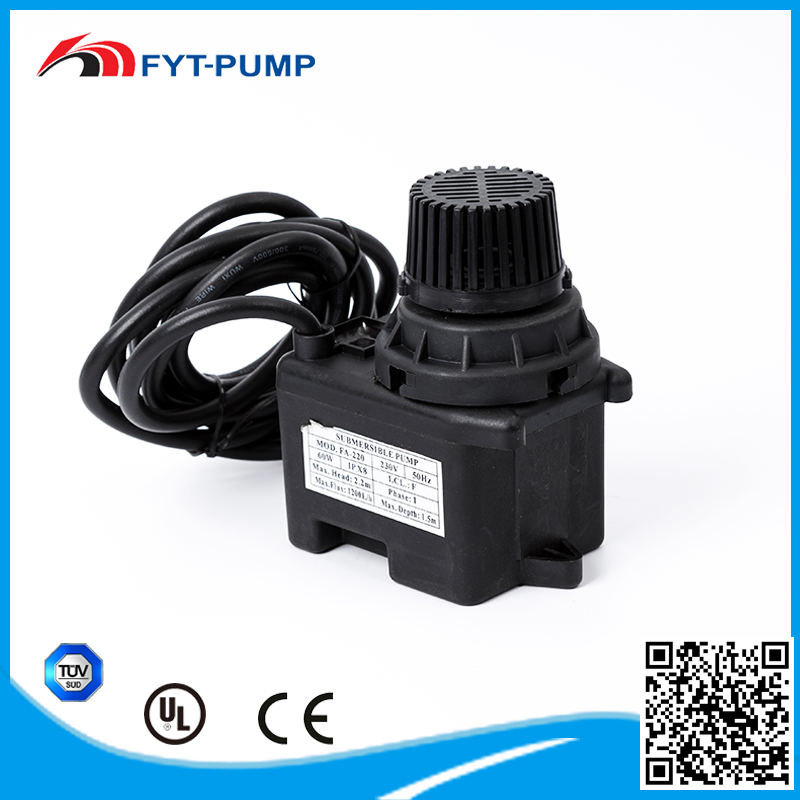 50Hz small 220V IPX8 centrifugal low pressure submersible well fuel oil transfer pump
