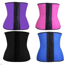 Women Fitness waist trainer corset , waist trainer latex cinchersauna body shaper