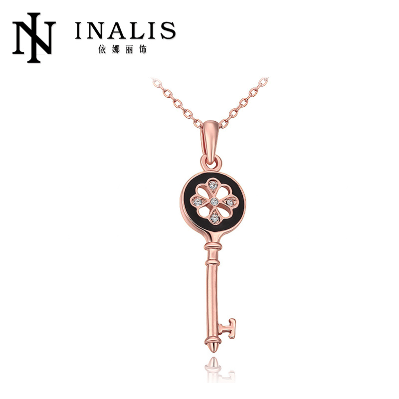 2014 Large Stock Key Shaped Pendant Necklace