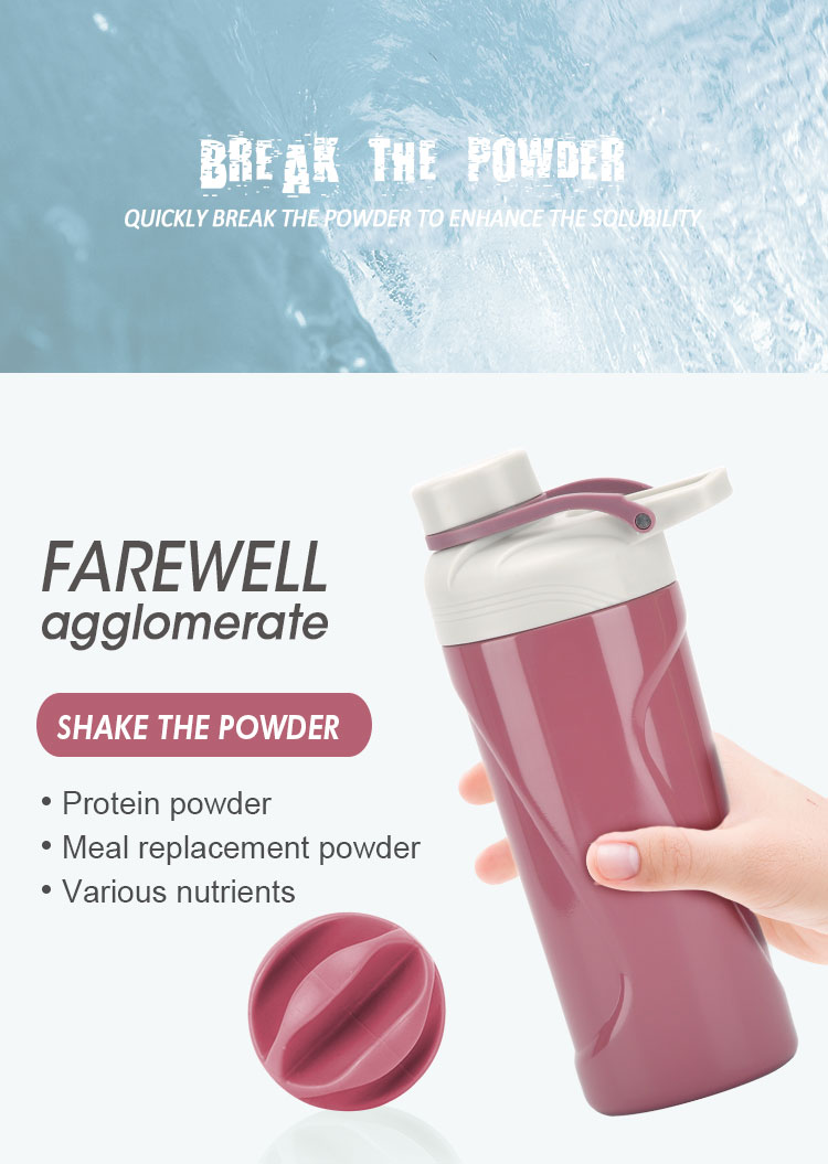 New Design  2019 Wholesale Double Wall Stainless Steel  Insulated Shaker Water Bottle For Gym