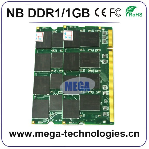 Suitable for all motherboards ddr1 1gb 400mhz ram for laptop