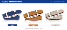 High quality fashion style genuine suede leather belt for men with designer buckle belt