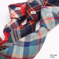 Fashion Slim Paid Cotton Flannel Neck Ties For Men