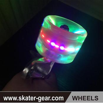 SKATERGEAR 70mm Skateboard Led Roller Blade Wheels Flashing