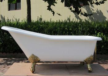 Vasca Da Bagno Ferro Smaltato : Freestanding cast vasca di ferro smaltato pantofola clawfoot vasca