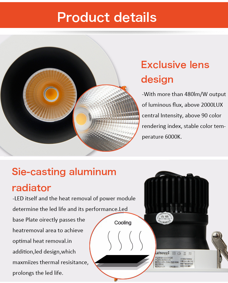 commercial illumination adjustable led downlights anti-dazzling white milky for wholesale-18