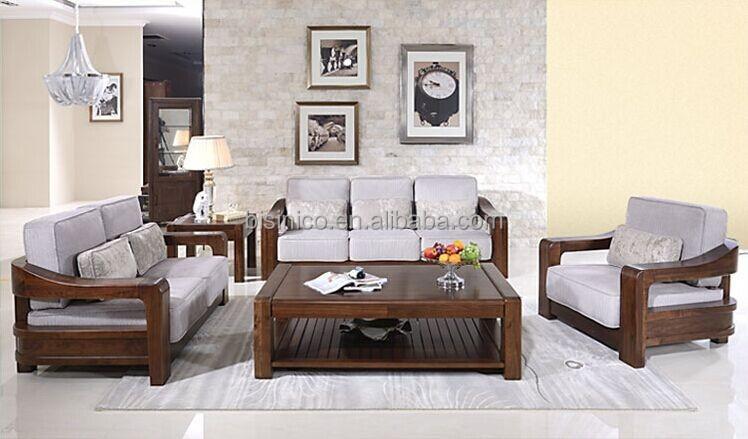 Estilo americano te negro nogal muebles sof set noble - Nogal americano muebles ...