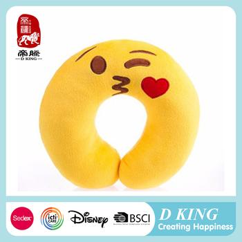 Custom fashion travel neck emoji pillow wholesale cartoon