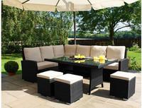 Modern outdoor poly rattan furniture set