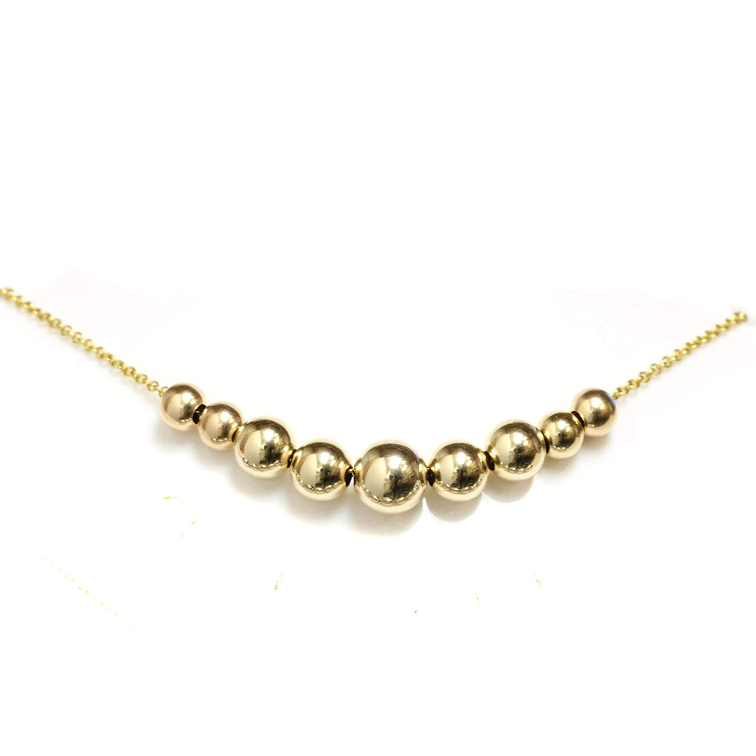 Chelsea Jewelry Basic Collections 3mm Wide 18K Gold Belcher Bead Chain Necklace