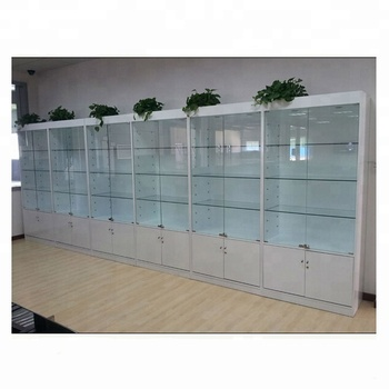 Modern Glass Mdf Wood Showcase/ White Showroom Display Cabinet With  Lockable Glass Doors   Buy Showroom Display Cabinet,Glass Door Display  Wooden ...