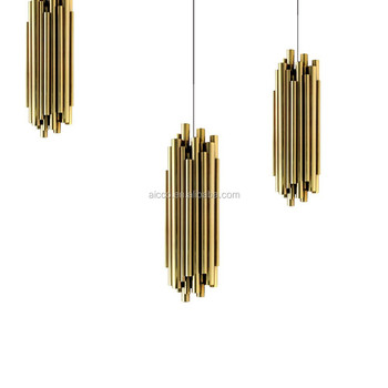 Decorative Hanging Pendant Lighting Metal Tube Pendant