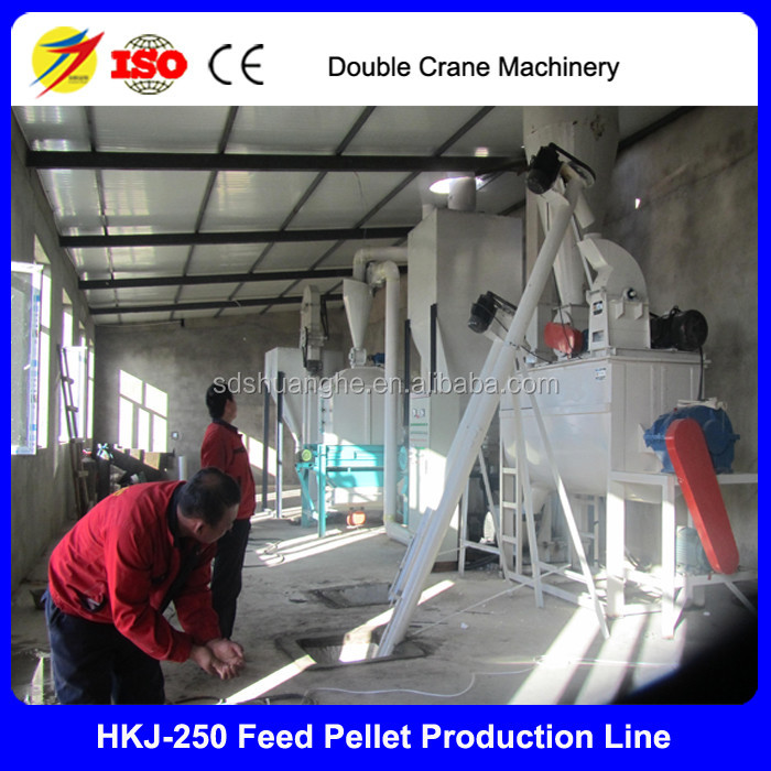 SH-250 chicken pellet feed production line 1-1.5t/h with working video on Youtube