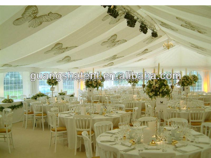 Hochzeit festzelt mit inneren dekoration ausstellungspunkt for Festzelt dekoration