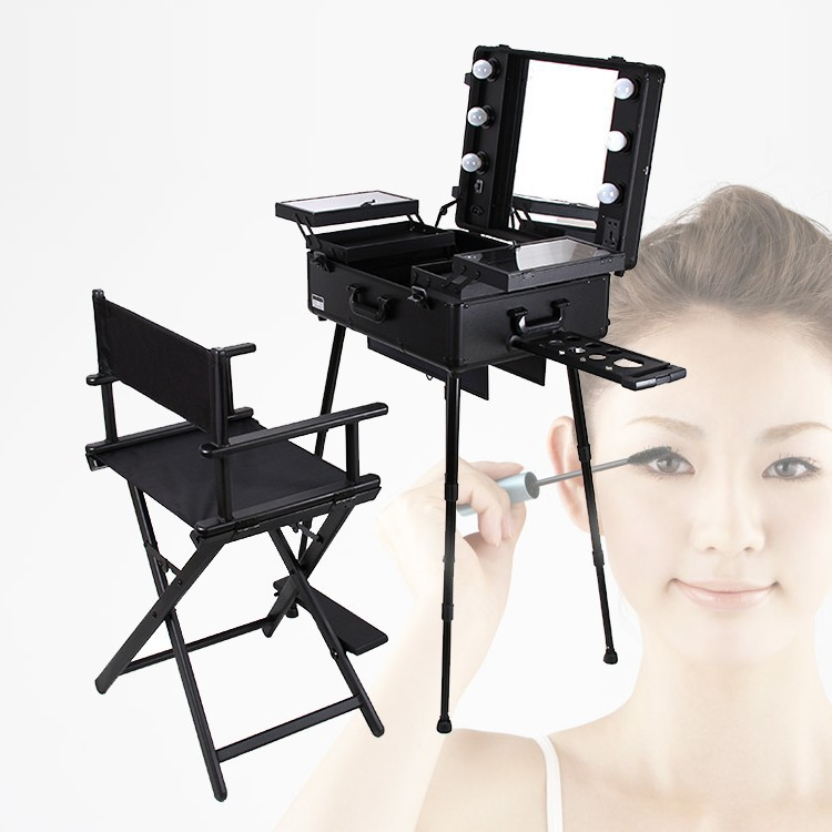 High Quality Aluminum Finished Folding Director Chair 2