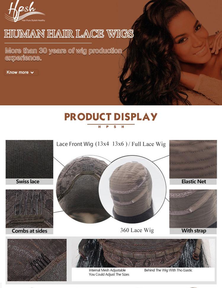 Costumi costume glueless ombre breve intrecciato 360 parrucca del merletto di colore naturale 180% afro crespa brasiliana dei capelli umani