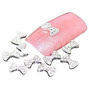 "Beauties Factory Nail Art 8mm ""Diamond Bow"" 3D DIY Alloy Decoration x 10pcs by Beauties Factory"