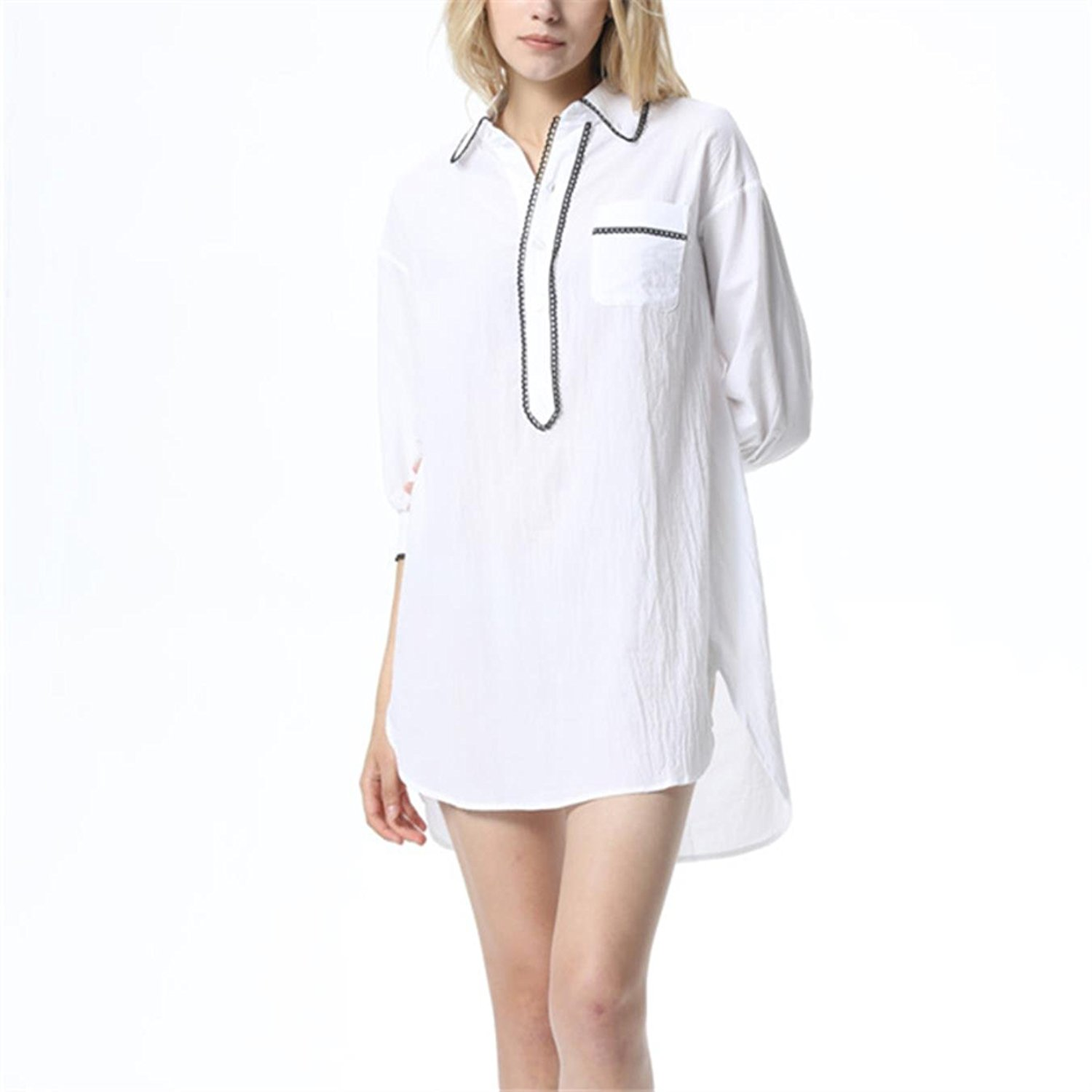 Get Quotations · KFJOIWN Sexy Elegant Solid Nightwear Indoor Clothing Sleep  Lounge Nightgown 134a31947