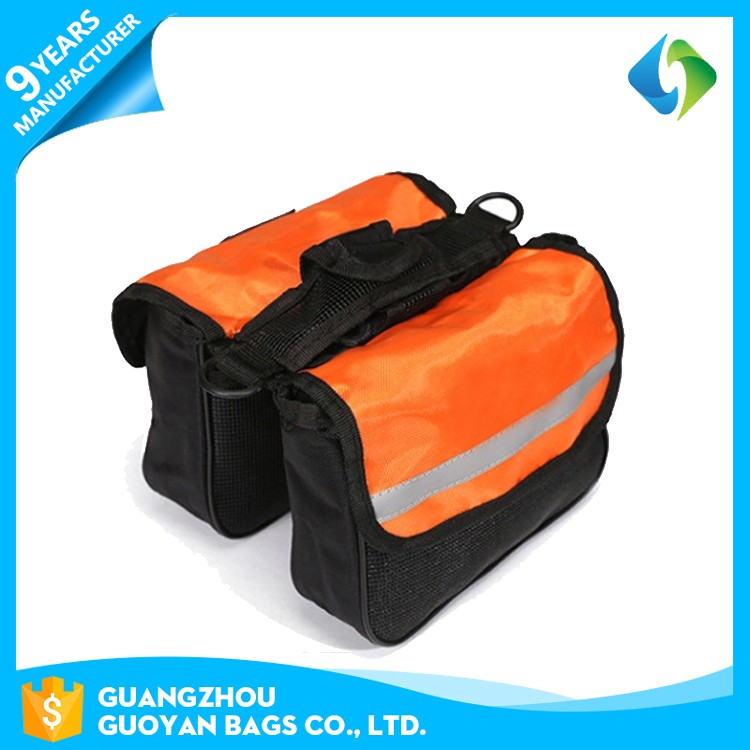 outdoor bicycle sports travel waterproof 600D polyester saddle bike bag