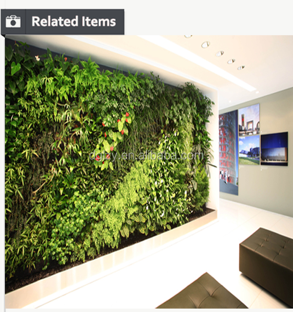 Oem Vertical Garden With Artificial Plants Vertical Wall