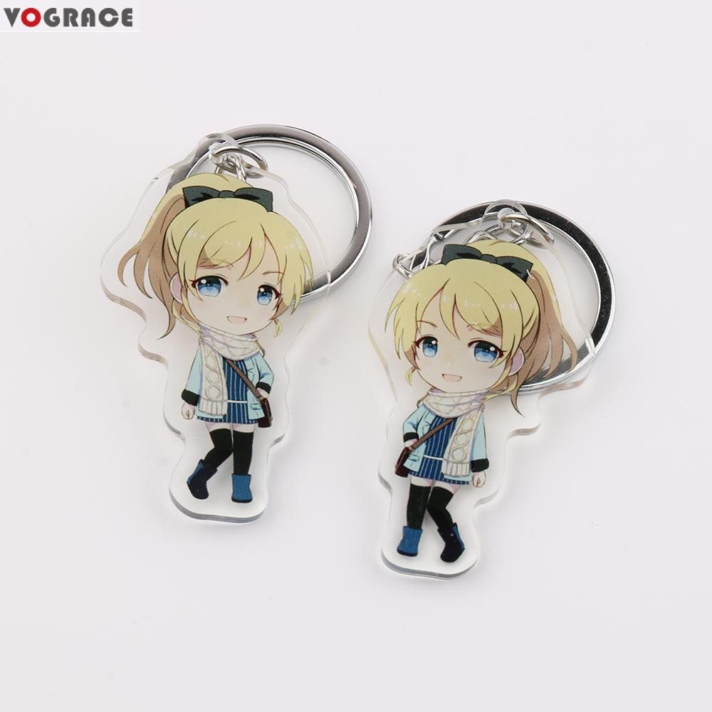 Clear Acrylic Keychain Custom/vograce Anime Character Printed Epoxy Glitter  Acrylic Charms - Buy Vograce Acrylic Keychain,Clear Glitter Epoxy Acrylic